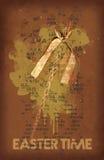 Chicote da Páscoa, símbolo da primavera, filtro alaranjado Fotografia de Stock Royalty Free