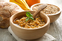 Chicpeas soup Stock Images