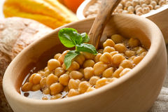 Chicpeas soup Royalty Free Stock Images