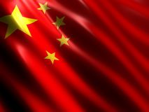 chińczycy flagę Obrazy Royalty Free