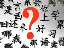 chińczyk uczy się chcieć Obraz Stock