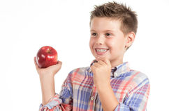 Chid with apple 2 Royalty Free Stock Image