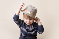 Chid in Fedora Hat: Fashion Royalty Free Stock Photos