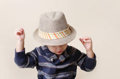 Chid in Fedora Hat: Fashion Stock Image