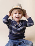 Chid in Fedora Hat: Fashion. Child in fedora fat, fashion or clothing concept Stock Photography