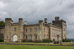 Chiddingstone castle with dark clouds Stock Images