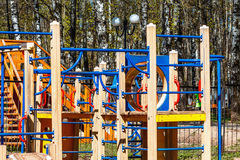 Chidren playground. In Russia on sunny day Royalty Free Stock Photos