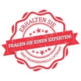Chieda ad un esperto ed ottenga un tedesco professionale di risposta Immagini Stock Libere da Diritti