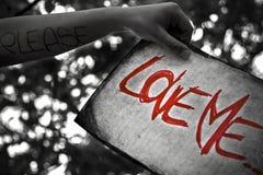 Chieda amore Immagini Stock