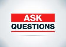 Chieda a domande l'illustrazione piana astratta di progettazione del fondo illustrazione vettoriale