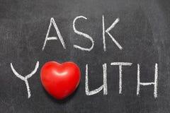 Chieda la gioventù fotografie stock libere da diritti