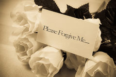 Chiedendo il perdono fotografia stock libera da diritti