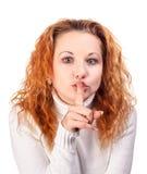 Chiedendo il silenzio Immagini Stock