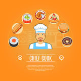 Chief Cook Concept Icons Royalty Free Stock Photo