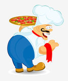Chief cook pizza Royalty Free Stock Image