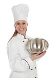 Chief cook woman Stock Image