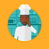 Chief cooker having idea vector illustration. Stock Photos