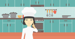 Chief cooker having idea vector illustration. Royalty Free Stock Image