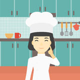Chief cooker having idea vector illustration. Stock Image