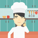 Chief cooker having idea vector illustration. Stock Images