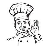 Chief-cooker. vector cartoon Stock Photography