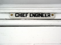 Chief Engineer of ship Royalty Free Stock Photos