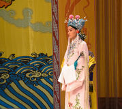 """Chief eunuch- Beijing Opera"""" Women Generals of Yang Family"""". This opera tells a patriotic story how does an old woman of a hundred years old go out Stock Photo"""