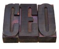 Chief executive officer (CEO) acronym Stock Photos
