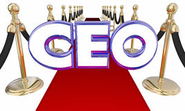 Chief Executive Officer CEO Red Carpet Event. 3d Illustration Stock Image