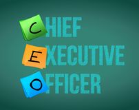 Chief executive officer sign on blackboard. Illustration design graphic Royalty Free Stock Image