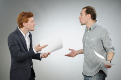 Chief explaining contract Stock Images