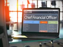 Chief Financial Officer Job Vacancy. 3D. royalty free illustration