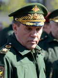 Chief of the General staff of the Russian armed forces — first Deputy defense Minister, army General Valery Gerasimov. MOSCOW, RUSSIA - MAY 07, 2017 Stock Photos