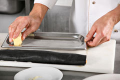 Chief grease butter baking sheet Royalty Free Stock Images