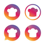 Chief hat sign icon. Cooking symbol. Royalty Free Stock Images
