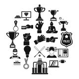 Chief icons set, simple style. Chief icons set. Simple set of 25 chief vector icons for web isolated on white background Stock Photography