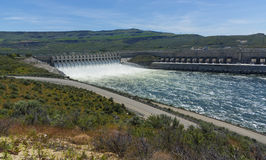Chief Joseph Dam. Bridgeport, WA USA - May 22nd, 2017. Chief Joseph Dam is the second hydroelectric power producing dam in the United States Stock Images