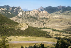 Chief Joseph Highway. View along the Chief Joseph Scenic Byway in Wyoming Royalty Free Stock Image