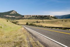 Chief Joseph Scenic Byway. View along the Chief Joseph Scenic Byway in Wyoming Stock Photo