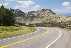 Chief Joseph Scenic Byway. View along the Chief Joseph Scenic Byway in Wyoming Royalty Free Stock Photography