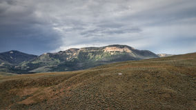 Chief Joseph scenic byway. View along the Chied Joseph scenic byway, Wyoming Royalty Free Stock Images