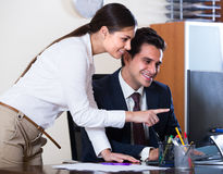 Chief manager and young employee Royalty Free Stock Image