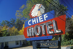 Chief Motel sign stock photography