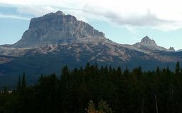 Chief Mountain, Canadian View Royalty Free Stock Photography