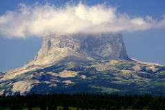 Chief Mountain, With Your Head in the Clouds stock image