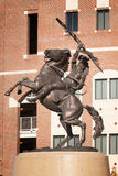 Chief Osceola Statue. TALLAHASSEE, FLORIDA - OCTOBER 16:  Statue of Chief Osceola and his horse Renegade, the official symbol of the FSU Seminoles outside Doak Royalty Free Stock Photo