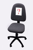 Chiefs chair. Office chair and Question Mark Royalty Free Stock Photos