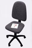 Chiefs chair. Office chair and Question Mark Stock Photo