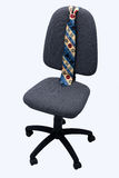 Chiefs chair. Office chair and tie isolated in white background Royalty Free Stock Photos
