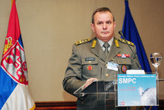 Chief of SAF, General Miloje Miletic Royalty Free Stock Image